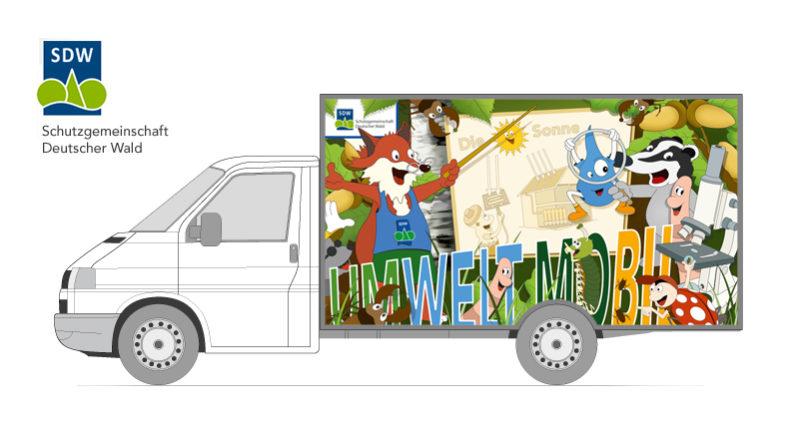 Umweltmobil SDW - Fahrzeugfolierung