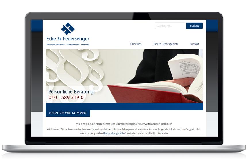 Webseite Ecke & Feuersenger