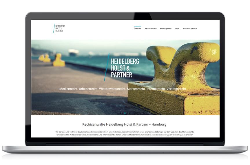Webseite Heidelberg Holst & Partner