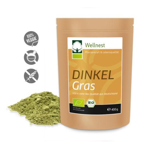 Wellnest Bio Dinkelgras Pulver