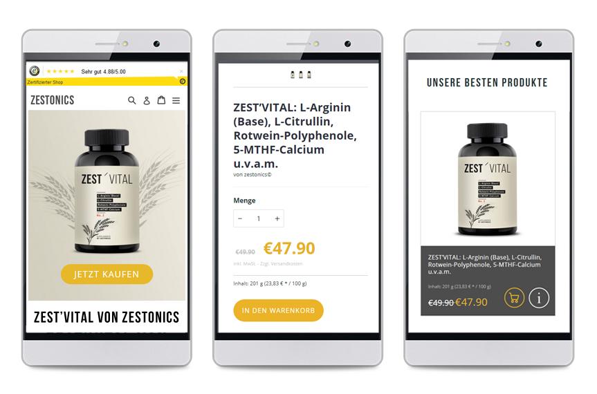 Onlineshop Zestonics