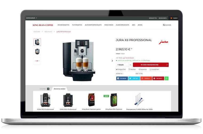 Onlineshop King Bean Coffee