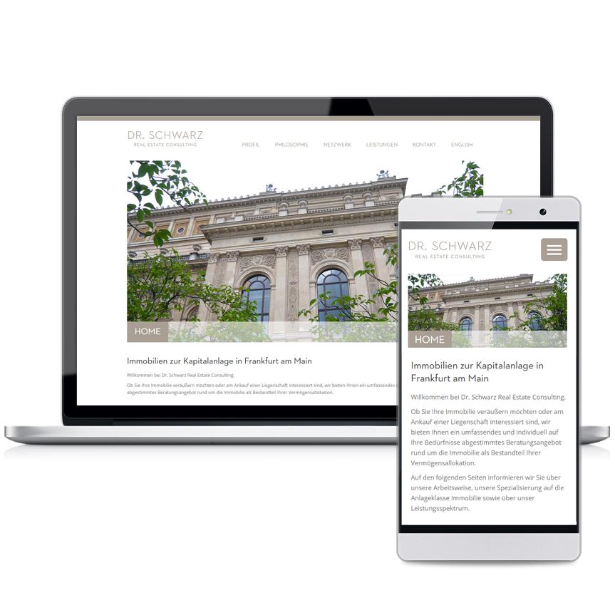 Webseite Schwarz Consulting
