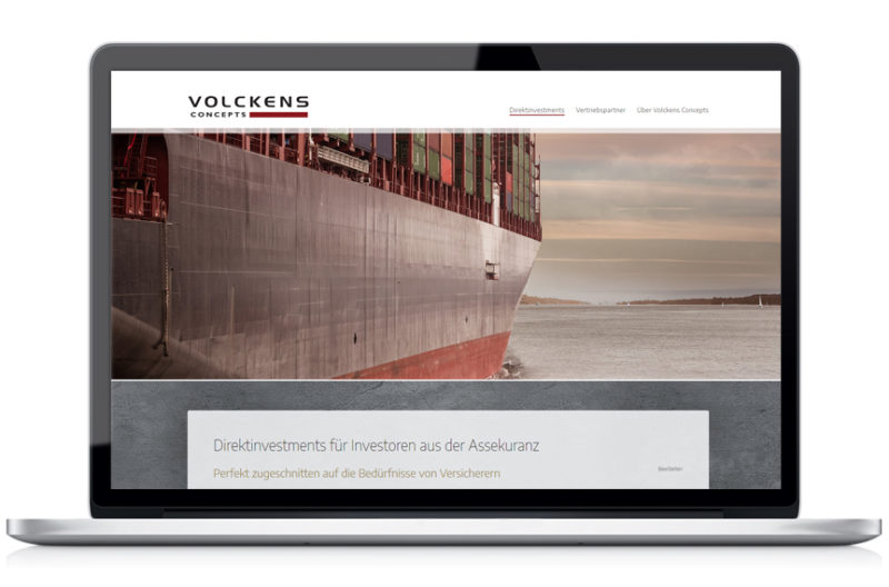 Webseite Volckens Concepts GmbH & Co.KG